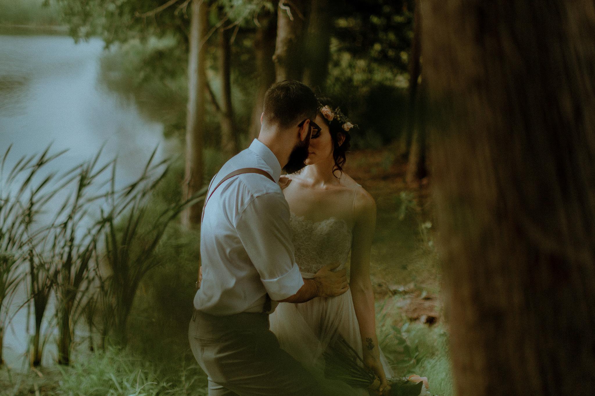 Intimate Forest Wedding Photos Bethany Ontario