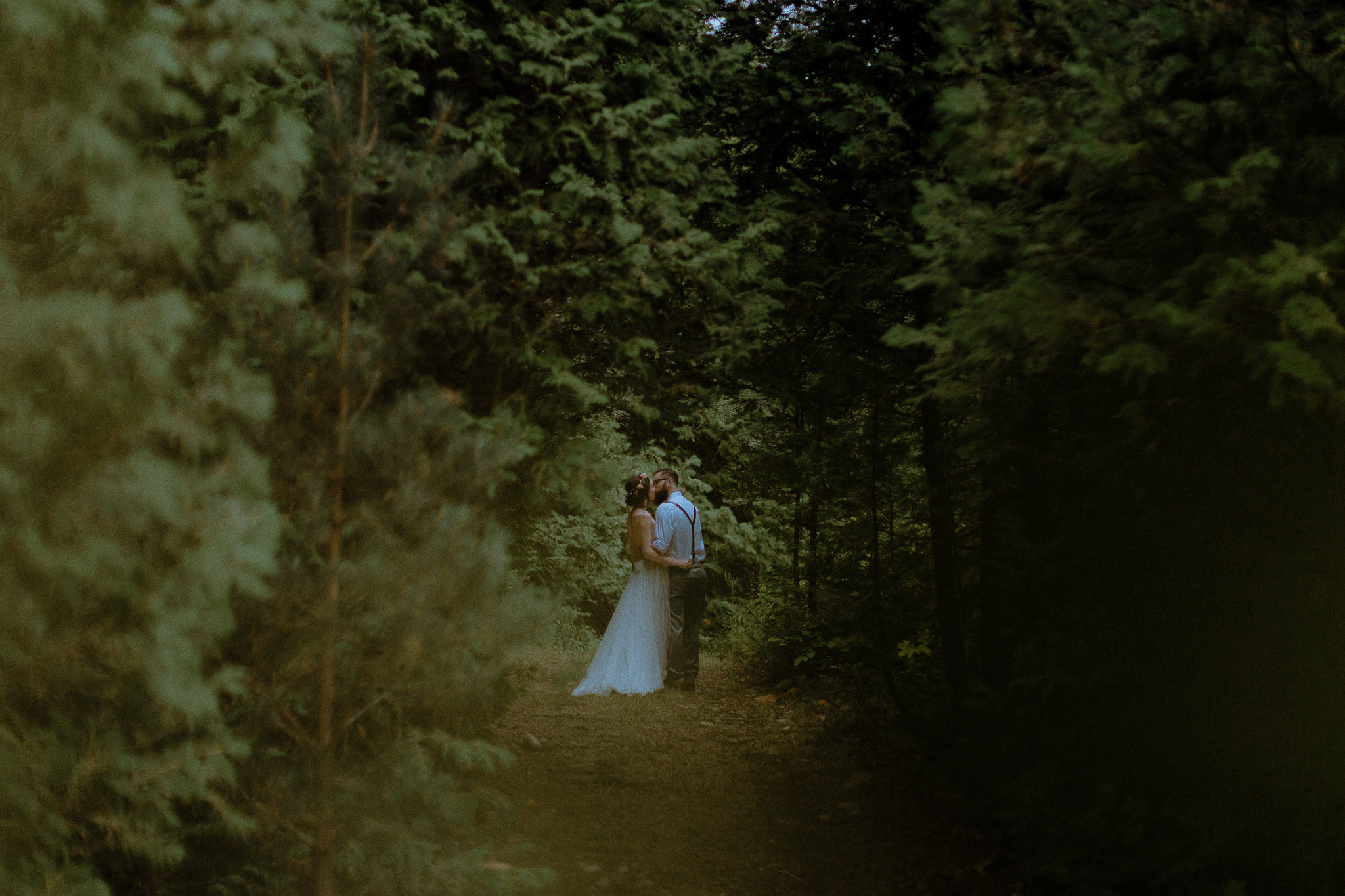 Gorgeous outdoor forest wedding venue