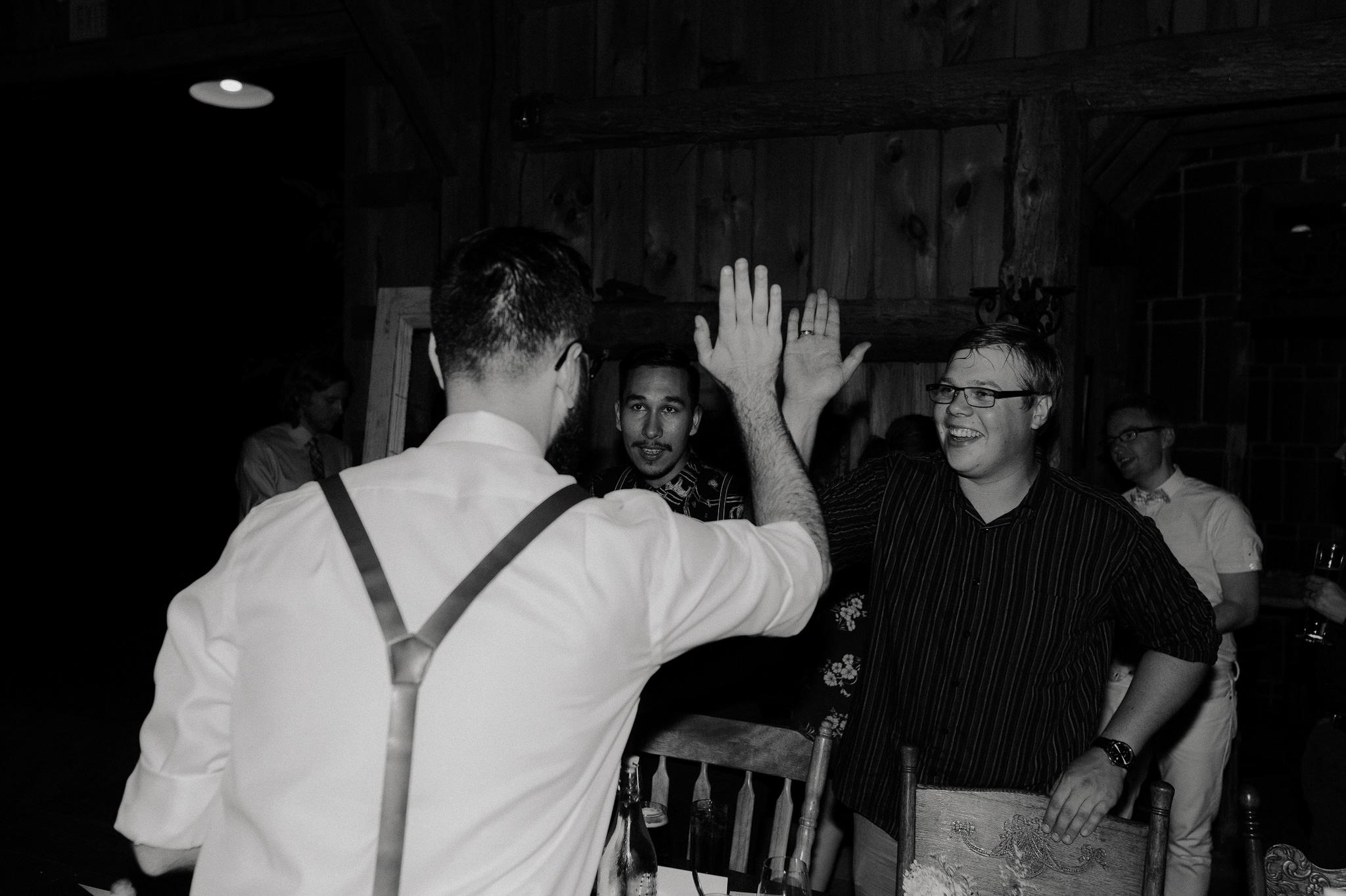 Rustic Venue Bride and Groom Speech Wedding Photos