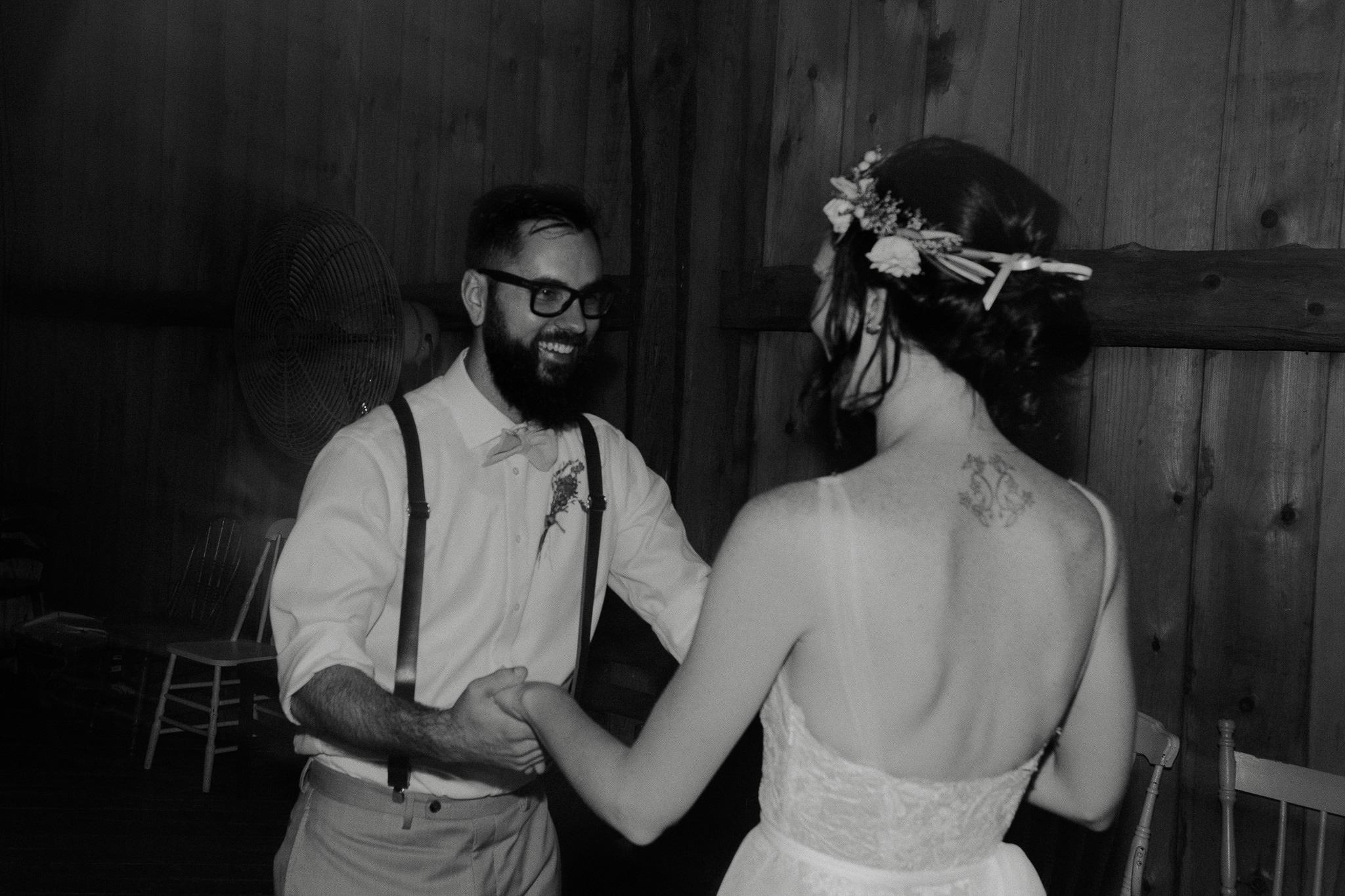 Bride and Groom Dancing Wedding Photos