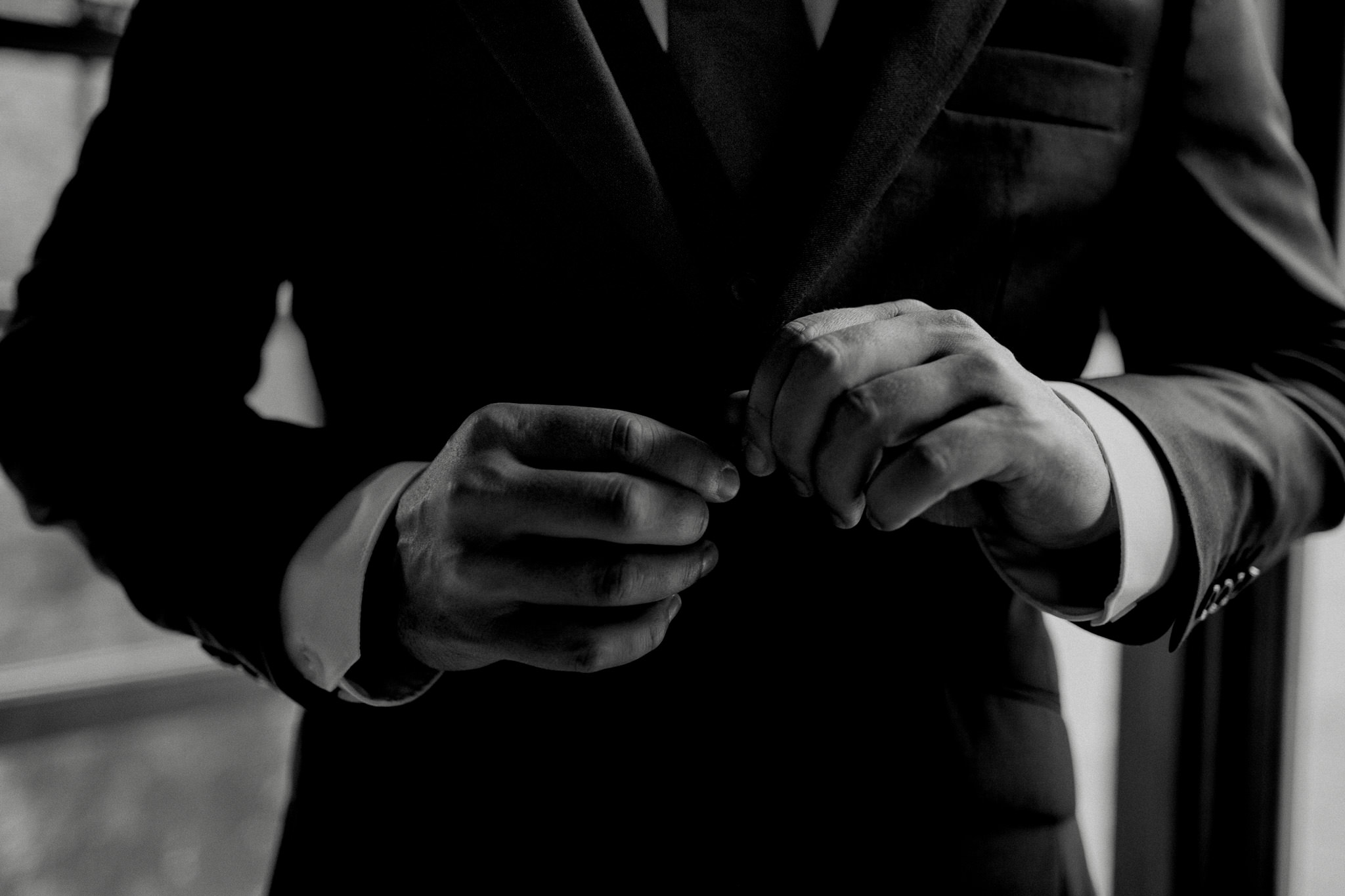 Groom suit details black and white peterborough