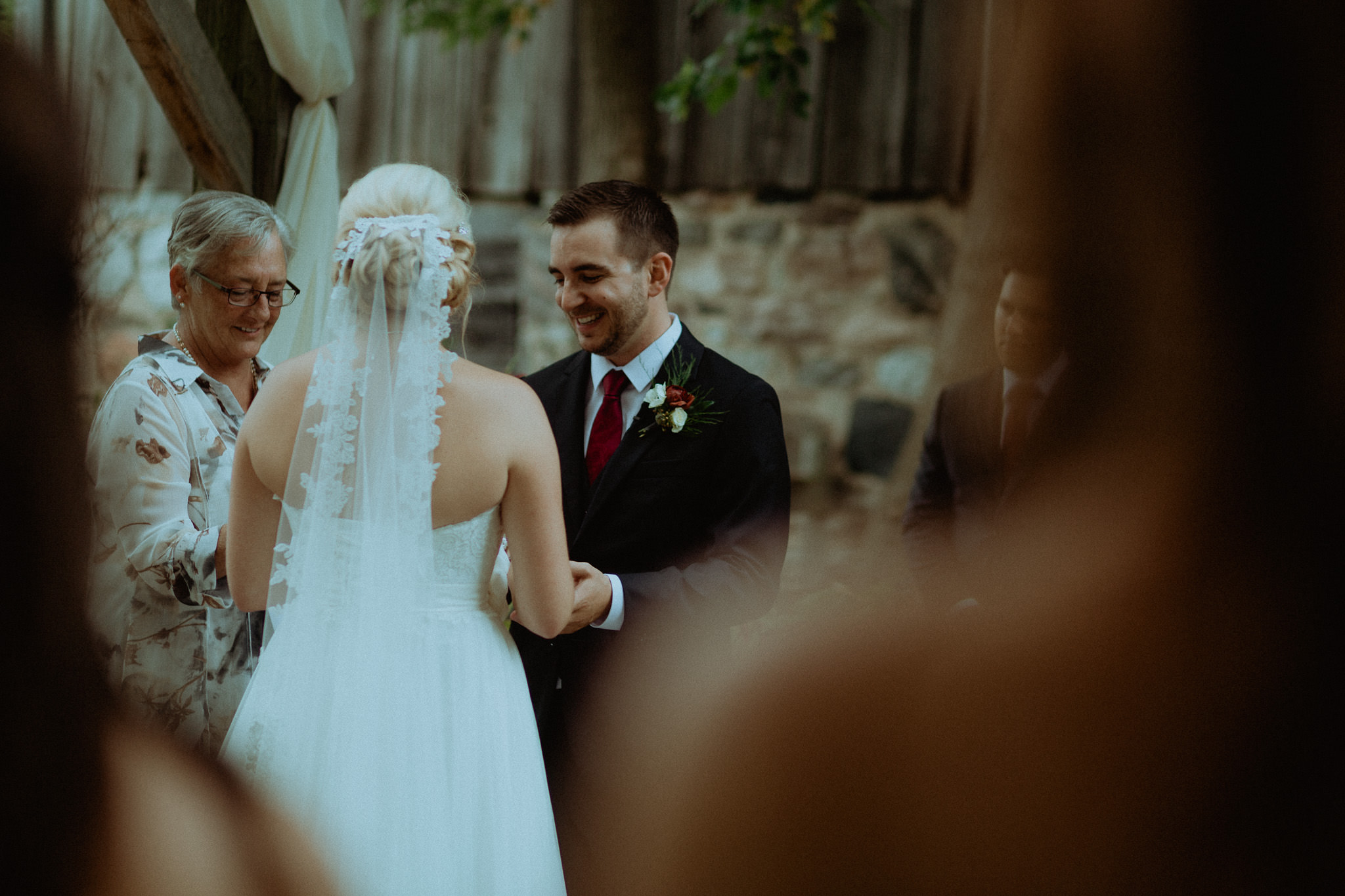 laughing groom wedding vows peterborough photography
