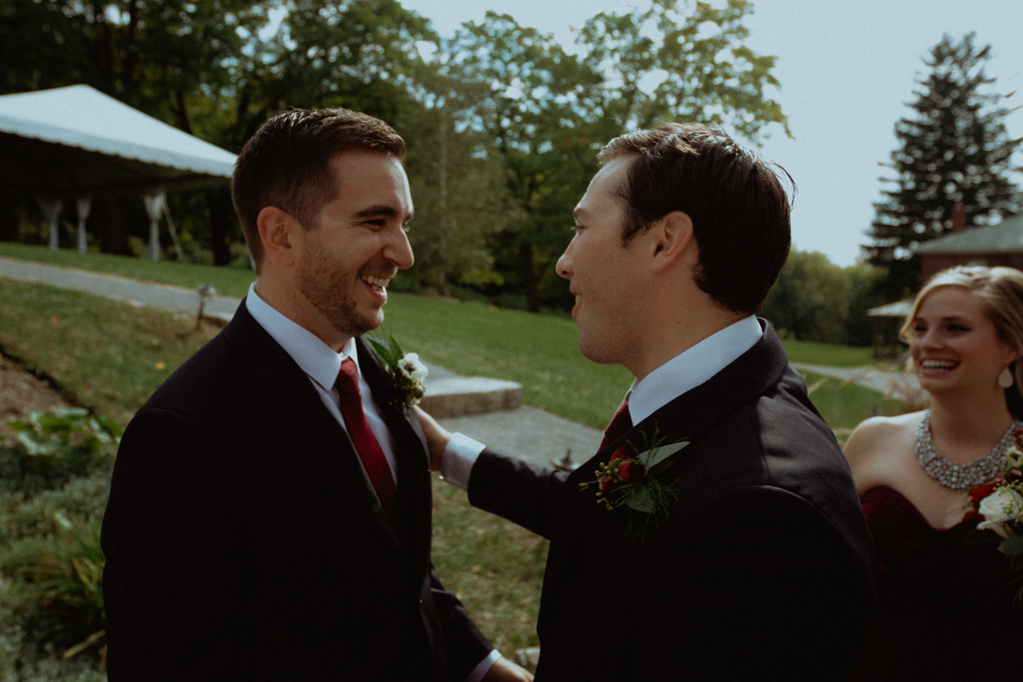groom and best man after wedding ceremony