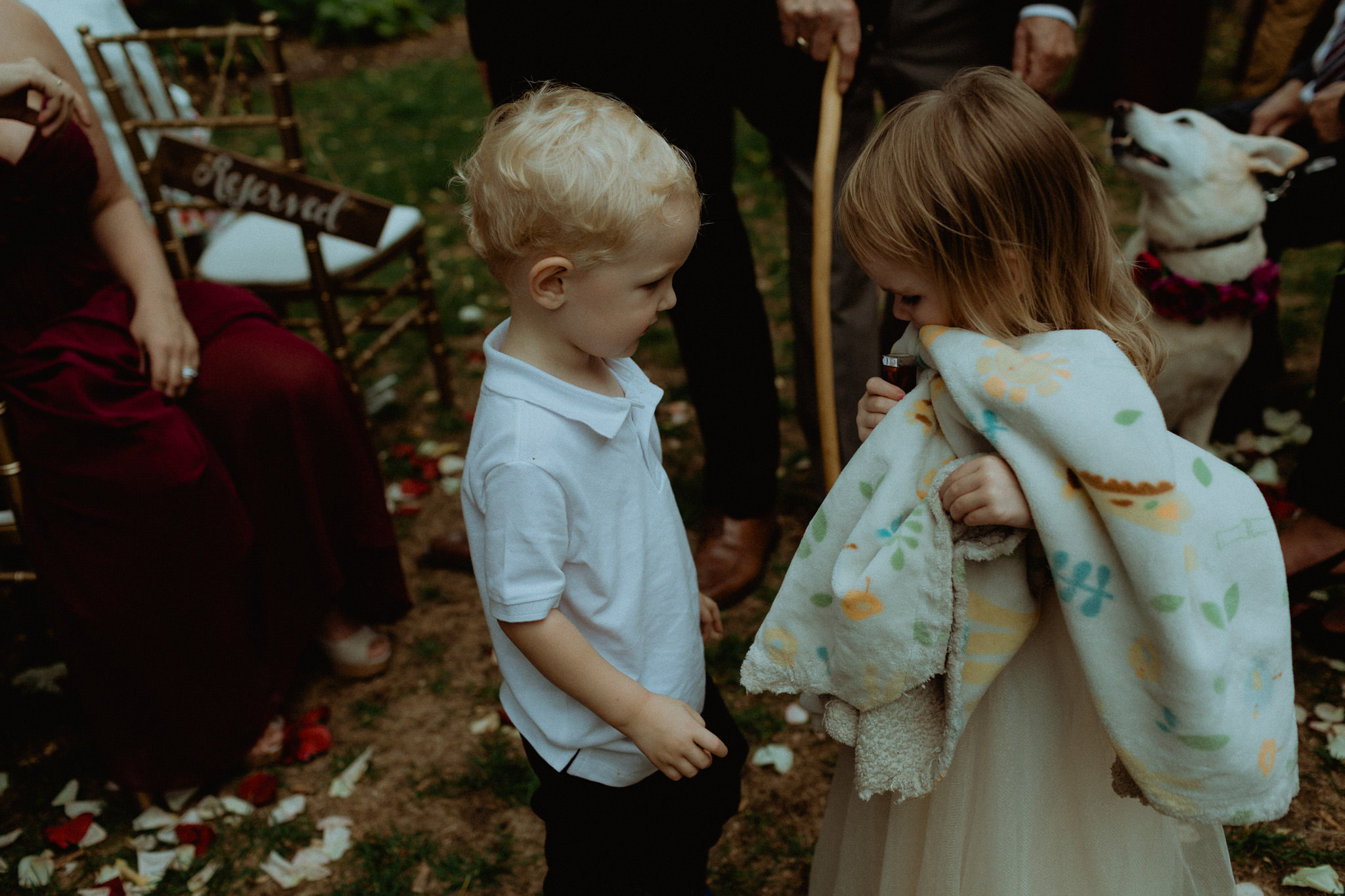 cute child moment at wedding
