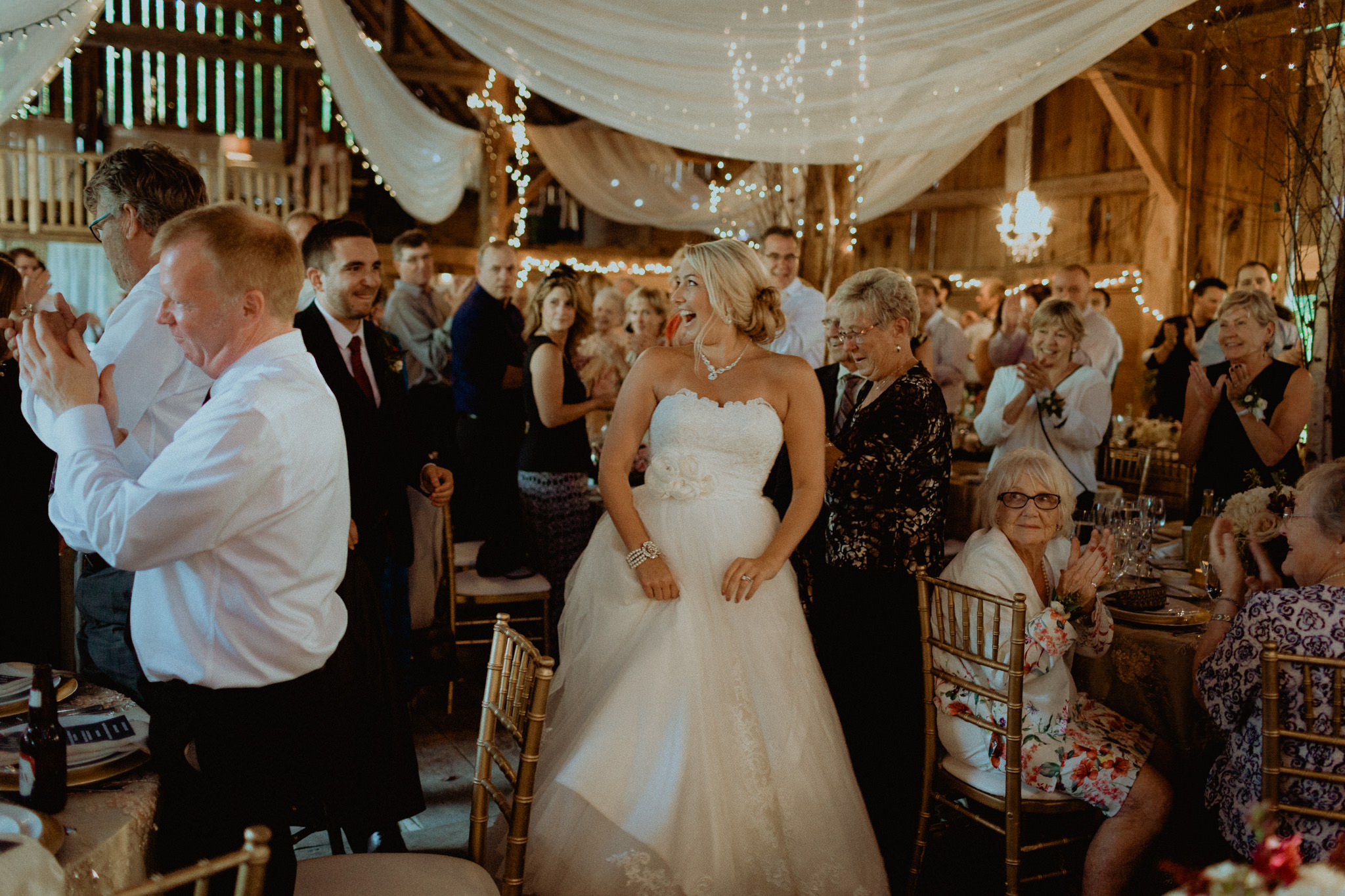 bride and groom barn wedding reception peterborough