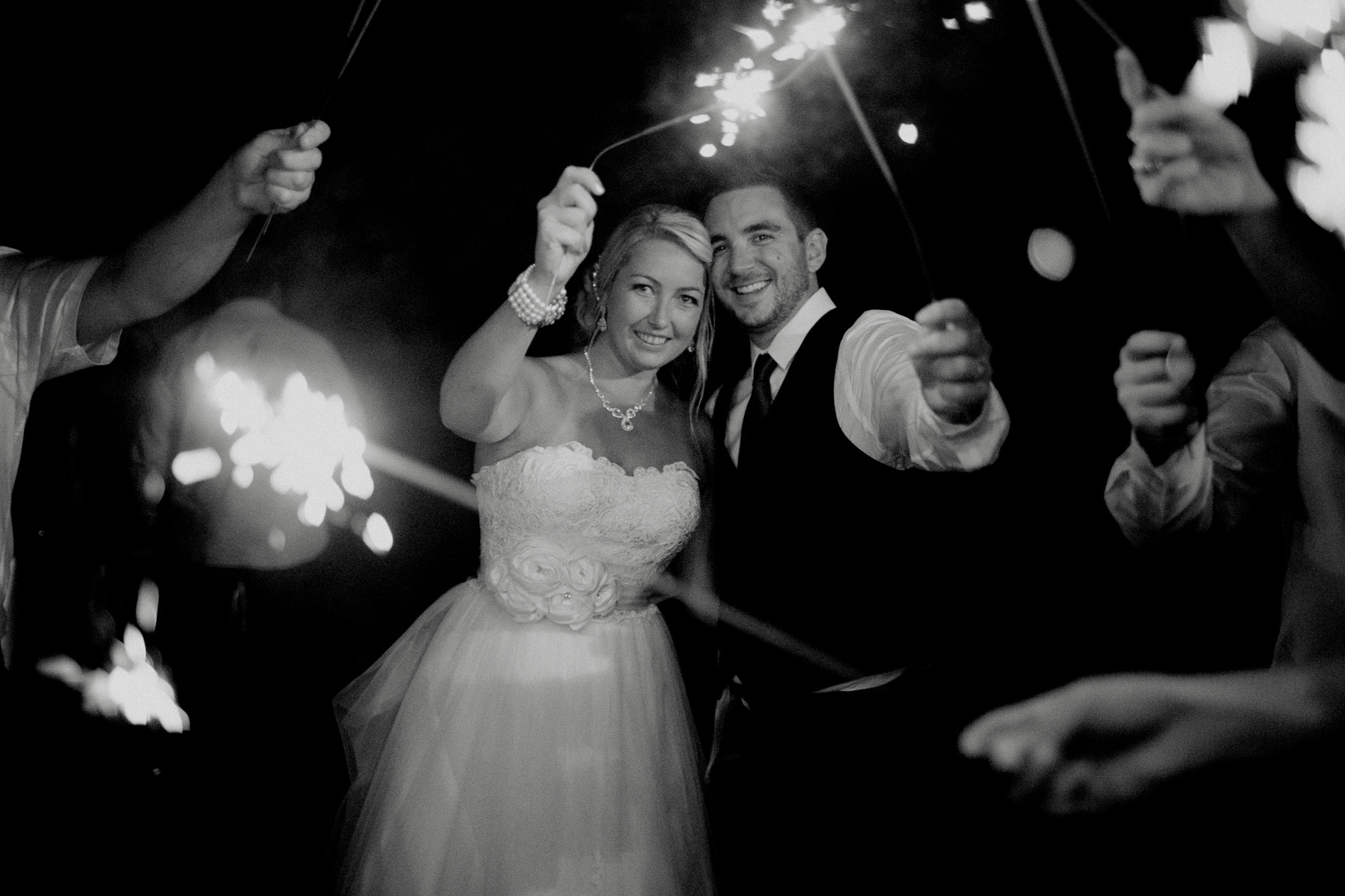 Century Barn sparkler exit bride and groom Cavan Peterborough Toronto