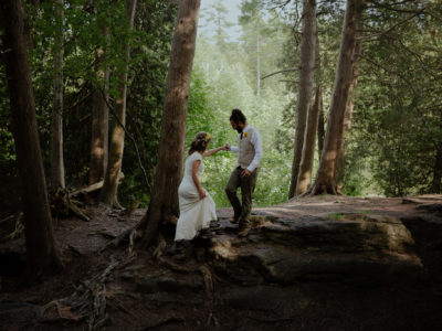 Casual Forest Adventure Wedding